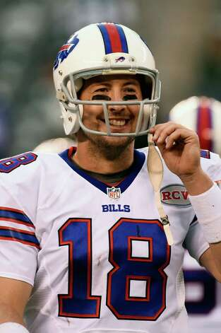EAST RUTHERFORD, NJ - OCTOBER 26:  Quarterback  Kyle Orton #18 of the Buffalo Bills smiles while playing against the New York Jets in the fourth quarter at MetLife Stadium on October 26, 2014 in East Rutherford, New Jersey.  (Photo by Alex Goodlett/Getty Images) ORG XMIT: 507869557 Photo: Alex Goodlett / 2014 Getty Images