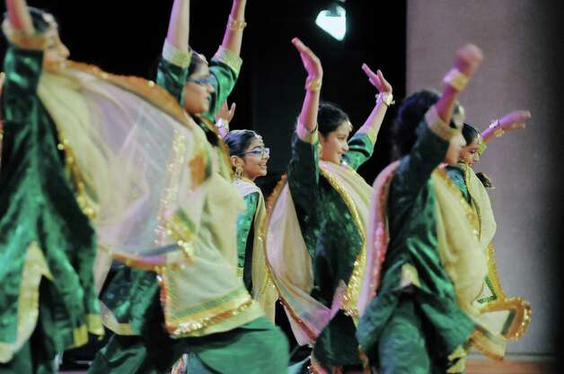 Representing India, members of the Nrityangana Dance Academy perform during the 43rd annual Festival of Nations at the Empire State Plaza Convention Center on Sunday, Oct. 26, 2014, in Albany, N.Y.  (Paul Buckowski / Times Union) Photo: Paul Buckowski / 00029125A