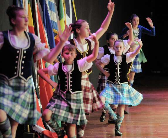 Representing Scotland, members of the Braemar Highland Dancers perform during the 43rd annual Festival of Nations at the Empire State Plaza Convention Center on Sunday, Oct. 26, 2014, in Albany, N.Y.  (Paul Buckowski / Times Union) Photo: Paul Buckowski / 00029125A