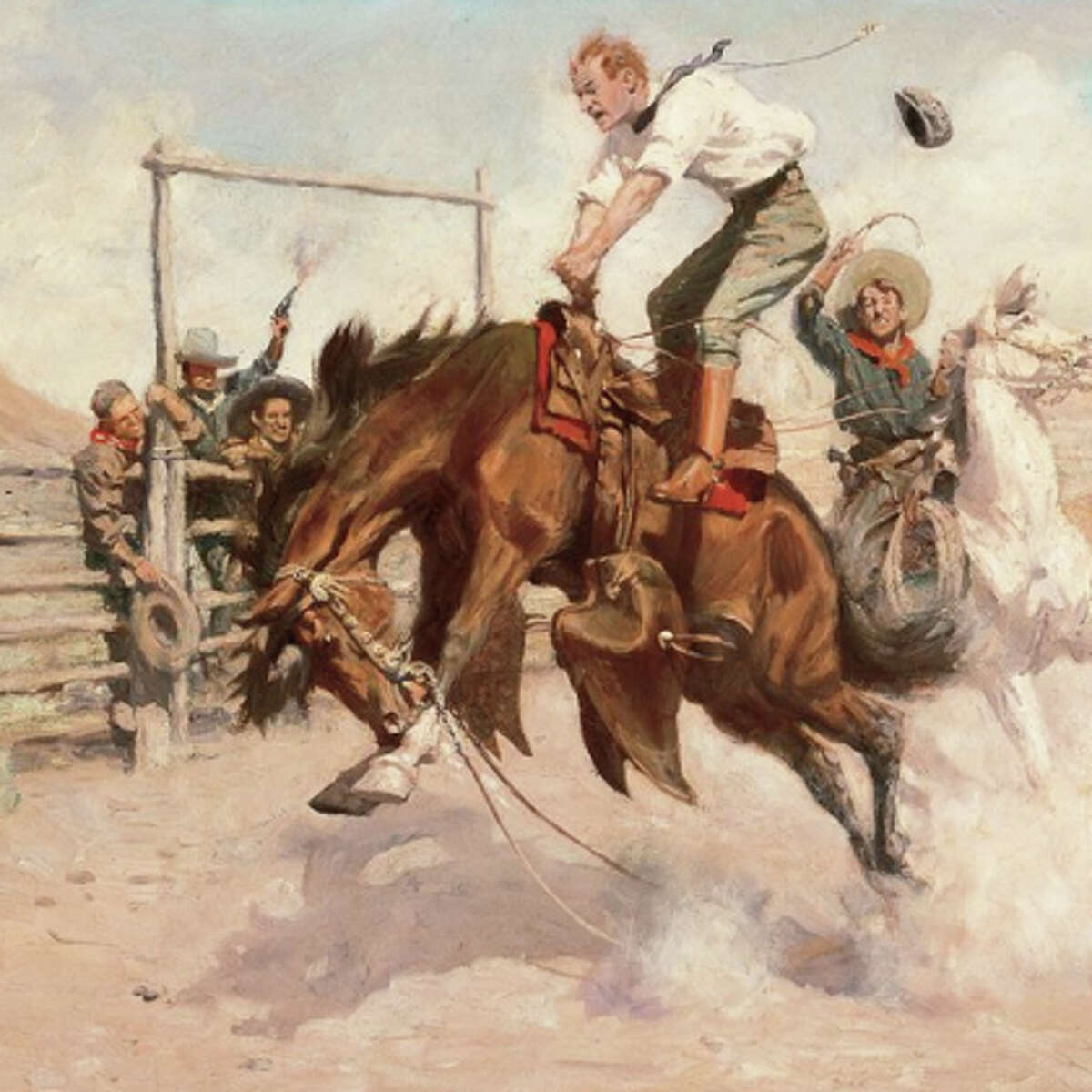 """Bill Schenck's """"Cowgirl"""" and other Western American in the Haub Family Collection will have a new showcase at the expanded Tacoma Art Museum, opening Nov. 15."""