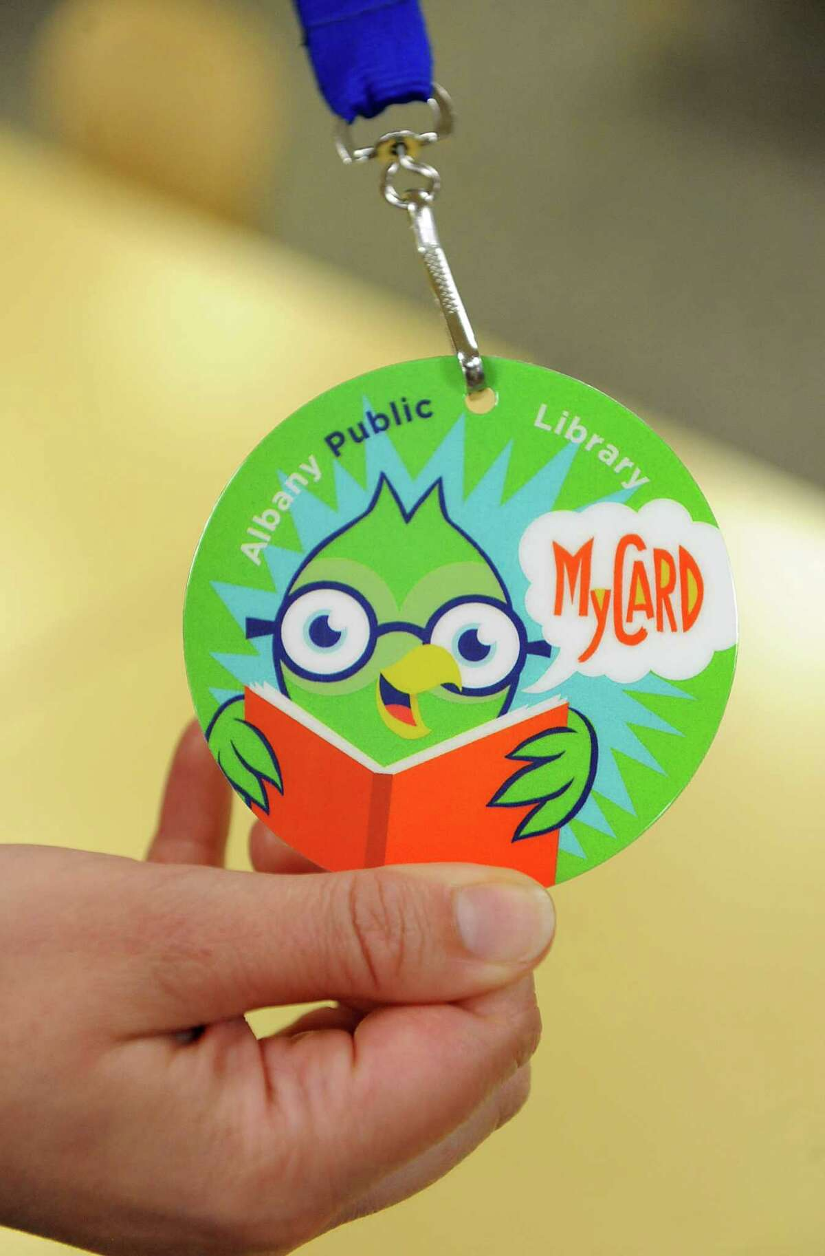 An Albany Public Library MyCard is shown for an initiative for children at the Albany Public Library Tuesday, June 17, 2014 in Albany, N.Y. The initiative was announced by Albany Public Library, Albany Mayor Kathy Sheehan and the City School District. (Lori Van Buren / Times Union)