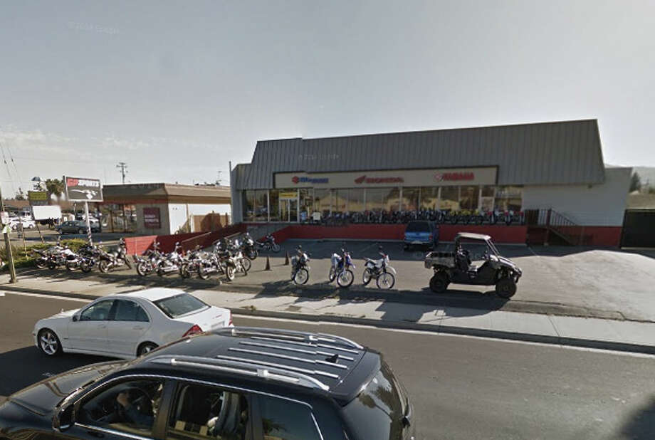 A two-alarm fire at GP Sports, Inc., a  San Jose sports vehicle dealership, destroyed dozens of vehicles on Sunday. Photo: Google Maps
