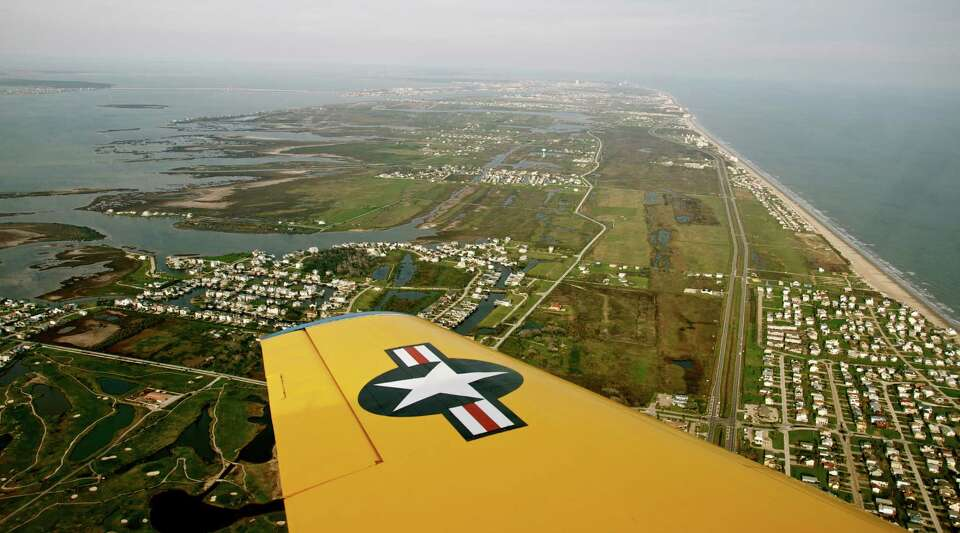 This photo shows the wing of a T-6 airplane known as a