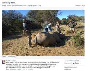 Texas huntress Kendall Jones posts Facebook open letter
