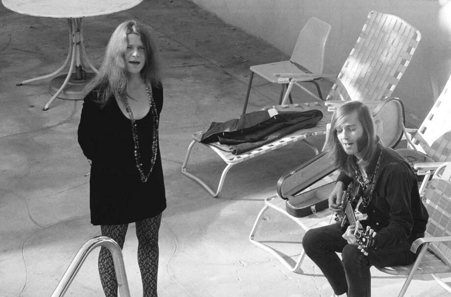 John Byrne Cooke's book, which features previously unseen photos, here shows Janis Joplin and Sam rehearse on a motel patio. Photo: John Byrne Cooke / ONLINE_CHECK