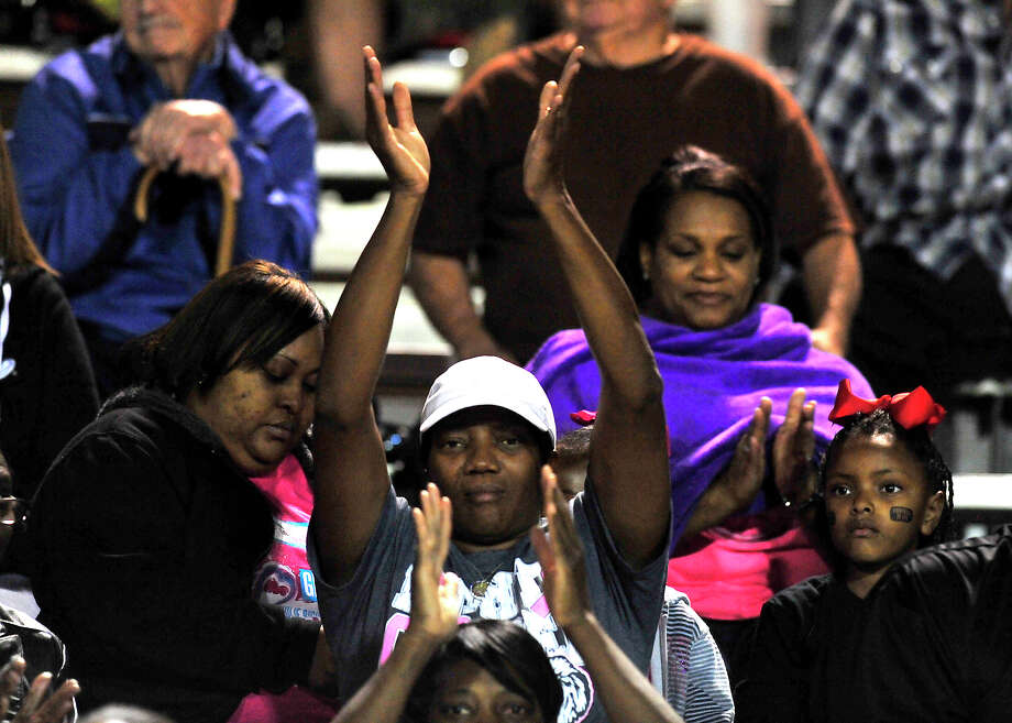 Kountze fans take in the action against Woodville during Friday's home game in Kountze. Photo taken Friday, October 24, 2014 Kim Brent/@kimbpix Photo: Kim Brent / Beaumont Enterprise