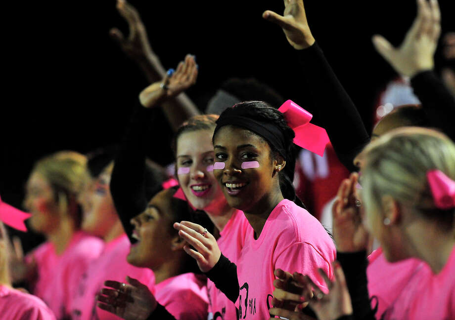 Kountze's cheerleaders celebrate a score over Woodville during Friday's home game in Kountze. Photo taken Friday, October 24, 2014 Kim Brent/@kimbpix Photo: Kim Brent / Beaumont Enterprise