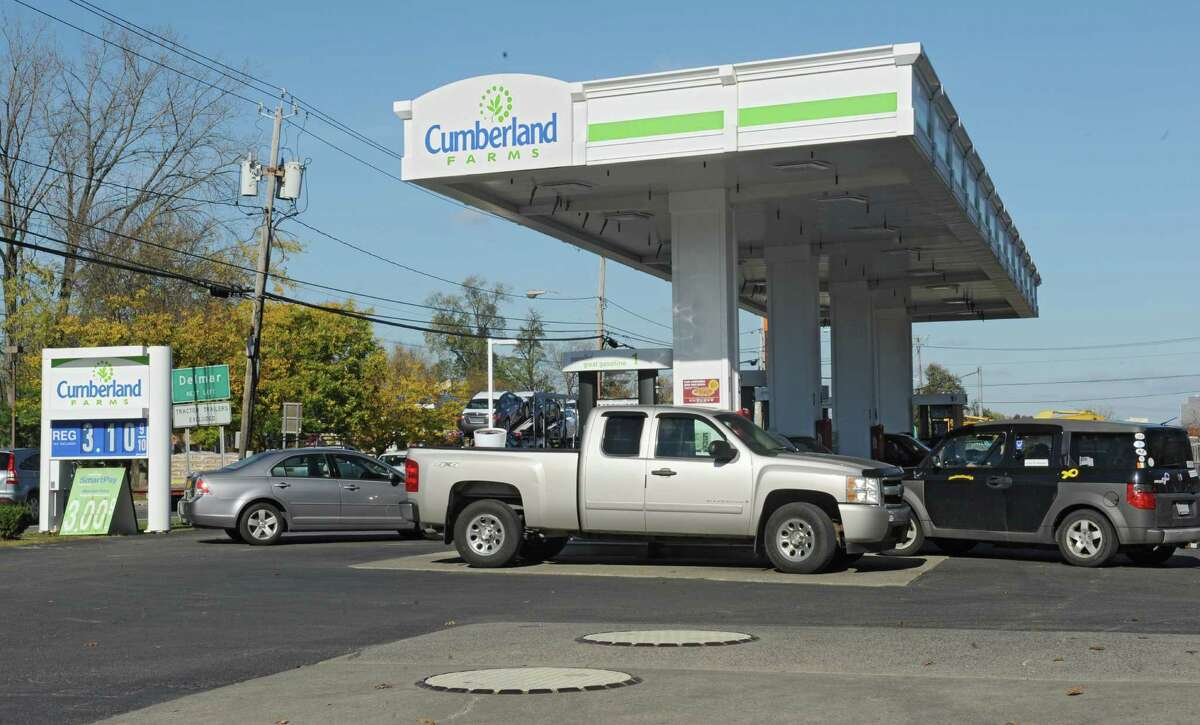 Price for regular gas is $3.10 a gallon for non-members or $3.00 a gallon for SmartPay members at the Cumberland Farms at 430 Rt. 9W at Glenmont Road Monday, Oct. 27, 2014, in Glenmont, N.Y. (Lori Van Buren / Times Union)