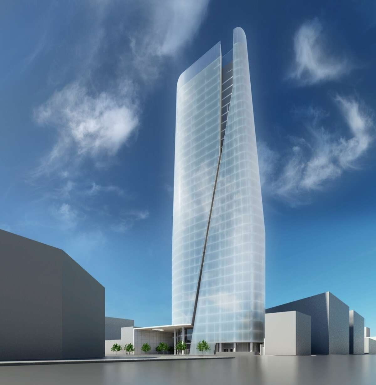 Richard Meier & Partners was planning this tower for the San Francisco site.