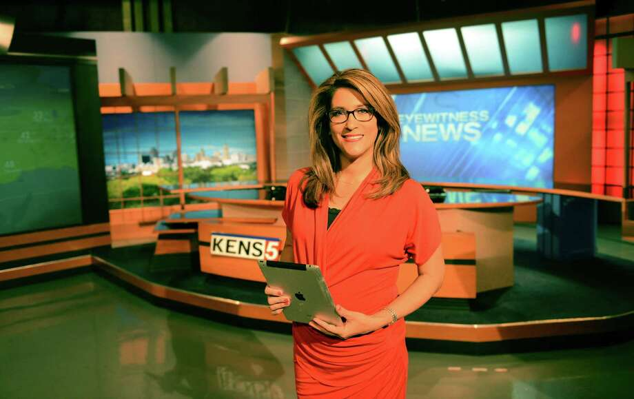 KENS anchorwoman Sarah Lucero has started wearing glasses on the air. Photo: Courtesy KENS