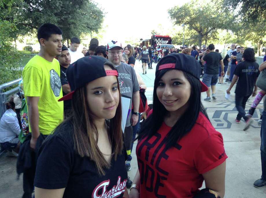 Fans were pumped for WWE Monday Night Raw at the AT&T Center Monday night. Photo: By Chris Quinn, San Antonio Express-News