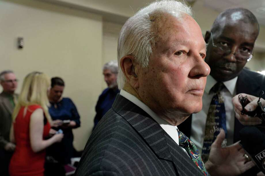 In this 2014 photo, former Louisiana Gov. Edwin Edwards speaks with reporters at the Baton Rouge Press Club after announcing that he would join the race to represent the state'€™s 6th District of the U.S. House after emerging from more than eight years in a federal prison. Photo: Travis Spradling, FRE / FR 164278AP