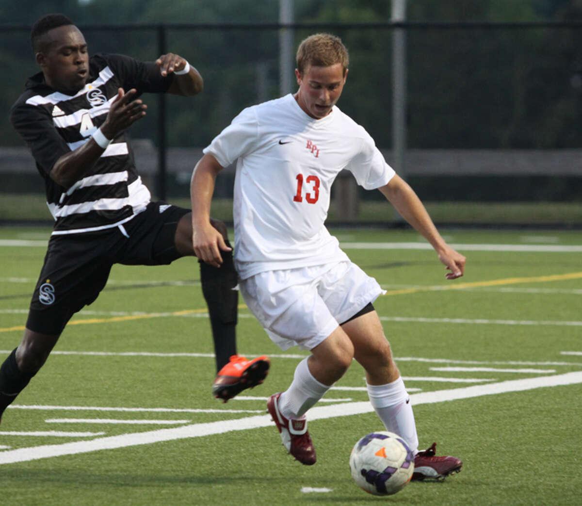 Vito Mesiti of the RPI men's soccer team. (RPI sports information)