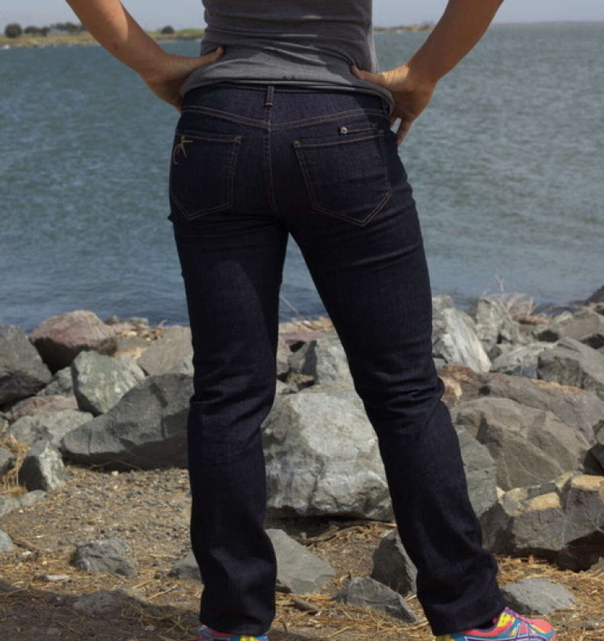Keirin Cut jeans, made by Oakland track cyclist Beth Newell, are for men and women with muscular thighs and trim waists.