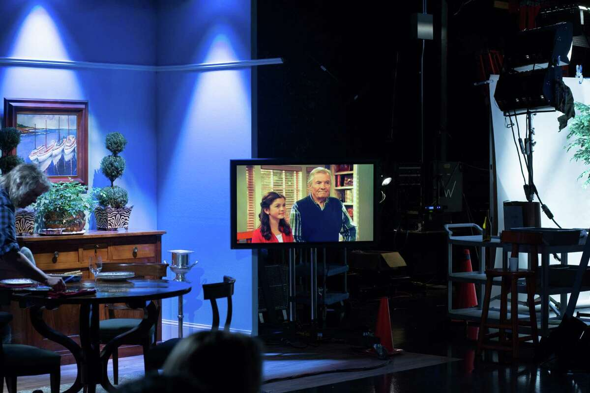 """Jacques Pepin and his granddaughter, Shorey Wesen, 10, appear onscreen on the set of KQED's """"Heart and Soul,"""" Pepin's latest, and last, cooking show, he says."""