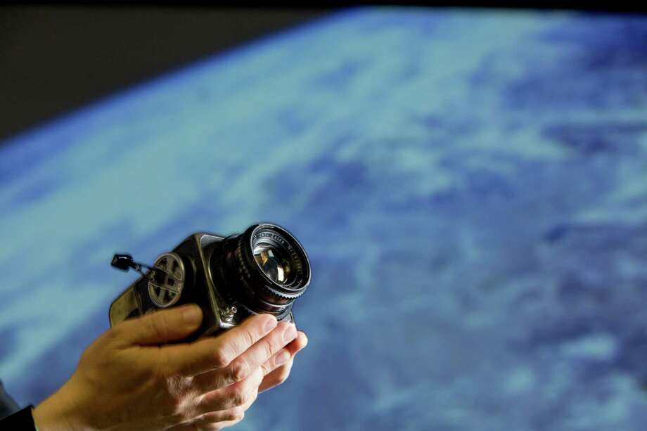 The first Hasselblad camera and Zeiss lens flown in space will be auctioned Nov. 13. See some of the amazing photos taken by this camera in the following gallery. Photo: Johnny Hanson, Staff / © 2014  Houston Chronicle