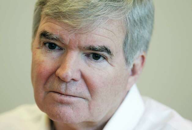 NCAA President Mark Emmert listens to a question during an interview Monday, Oct. 27, 2014, in Indianapolis. (AP Photo/Darron Cummings) ORG XMIT: INDC103 Photo: Darron Cummings / AP