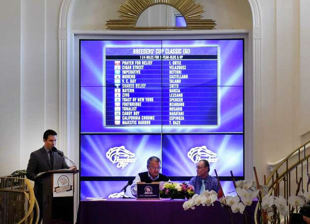 The post positions have were drawn Monday evening Oct. 27, 2014,  for the 31st running of the Breeders' Cup Classic at the ceremony held at the Santa Anita Race Track in Arcadia, California.     (Skip Dickstein/Times Union) Photo: SKIP DICKSTEIN