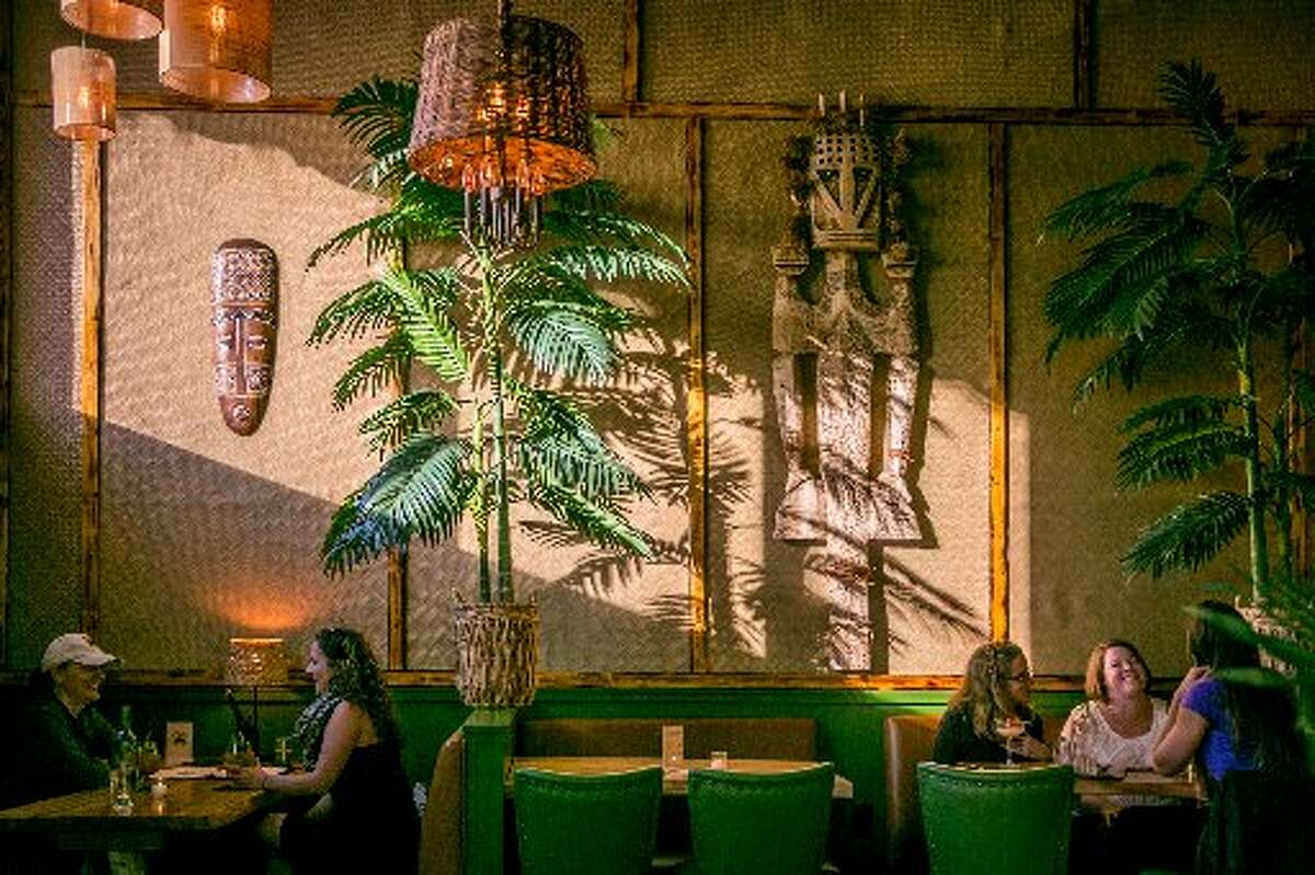 Longitude in Oakland offers a tiki-inspired interior for tropical libations.