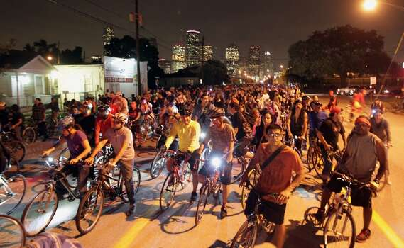 Critical MassFriday, Dec. 26Hop on your bike and take a 2-wheeled look at the Bayou City. The group hits the streets the last Friday of every month, riding around the city to raise awareness and advocate for a bike-friendly environment in Houston.When: 7 p.m.Where: Starts at Market Square Park, 301 Milam. Routes vary.Tickets: FreeInformation: marketsquarepark.com/calendar/ Photo: Houston Chronicle
