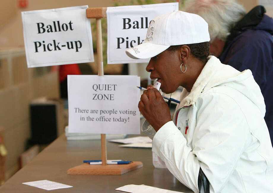 Most Politically Active StatesNo. 10 – Oregon(Source: WalletHub)Rev. Renee Ward of Portland seals her ballot after voting May 20, 2008 in Portland, Oregon.  Senator Barack Obama (D-IL) is the favorite to win the Democratic primary in Oregon, where polls indicate he has a 10-point lead over Senator Hillary Clinton (D-NY). Residents in Kentucky are also going to the polls today. Photo: Craig Mitchelldyer, Getty Images / 2008 Getty Images