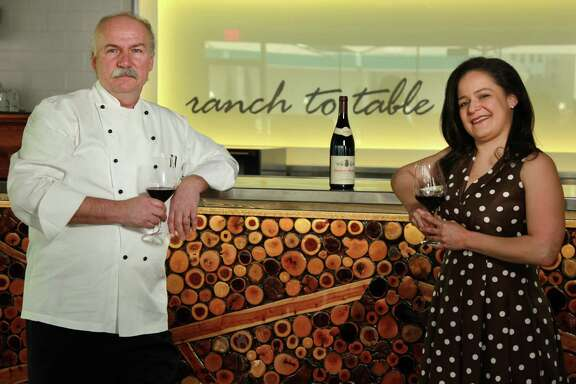 Chef Fritz Gitschner and Sommelier Vanessa Trevino Boyd photographed at 60 Degree Master Crafted on March 20, 2014, in Texas. ( Mayra Beltran / Houston Chronicle )