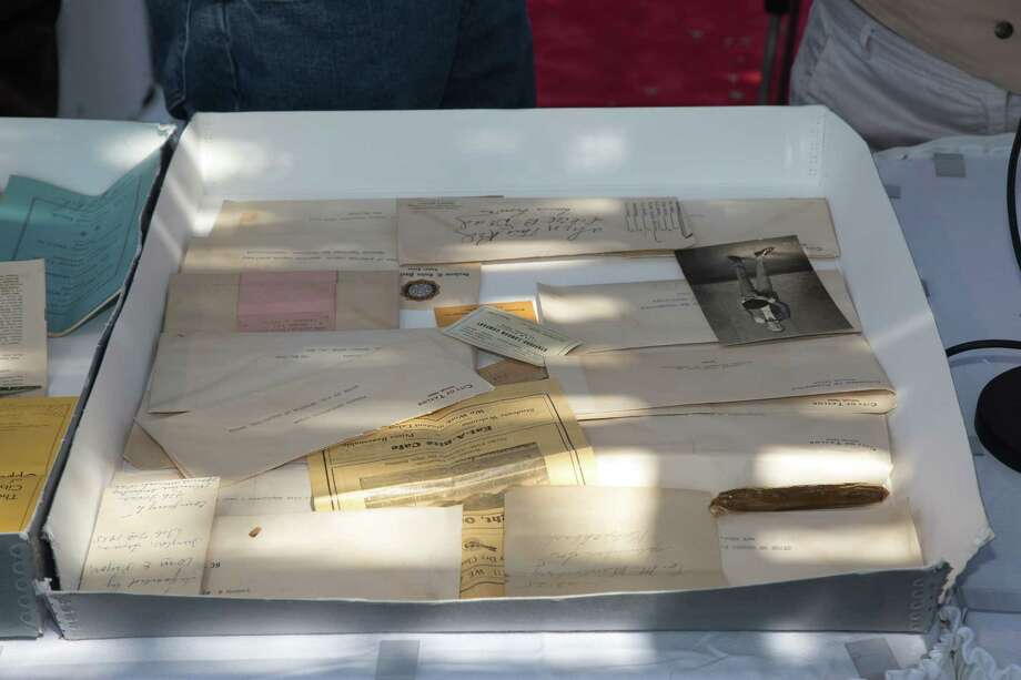 A time capsule filled with autographs, brochures and keys was finally opened Saturday, Oct. 25, 2014, after being buried in 1935 in Taylor, about 45 miles northeast of Austin. Photo: Deb Howe  E-I-E-I-O  Fotos & Portraits, City Of Taylor