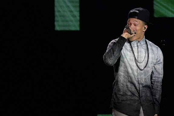 Trip Lee performs onstage during the 45th Annual Dove Awards at Allen Arena, Lipscomb University in Nashville, Tenn.