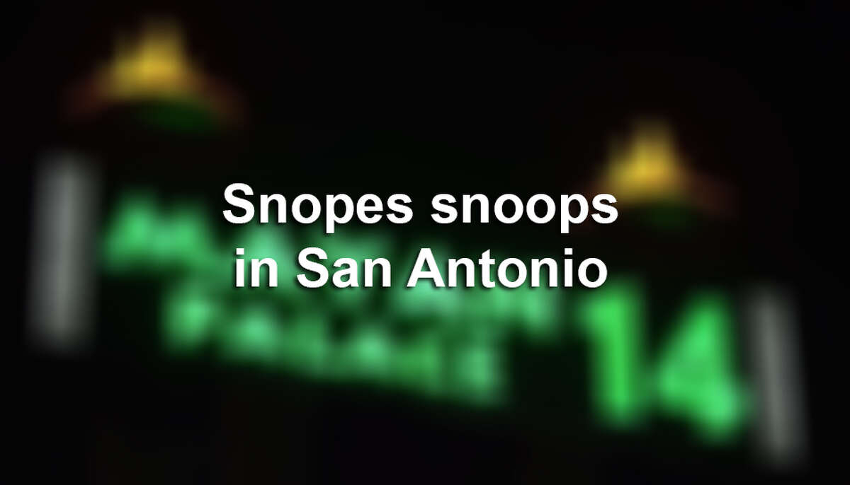 Sleuth site snopes.com takes on San Antonio to discover what stories, legends and other possible myths originating from the Alamo City are actually true. Find out the truth behind your favorite myth.