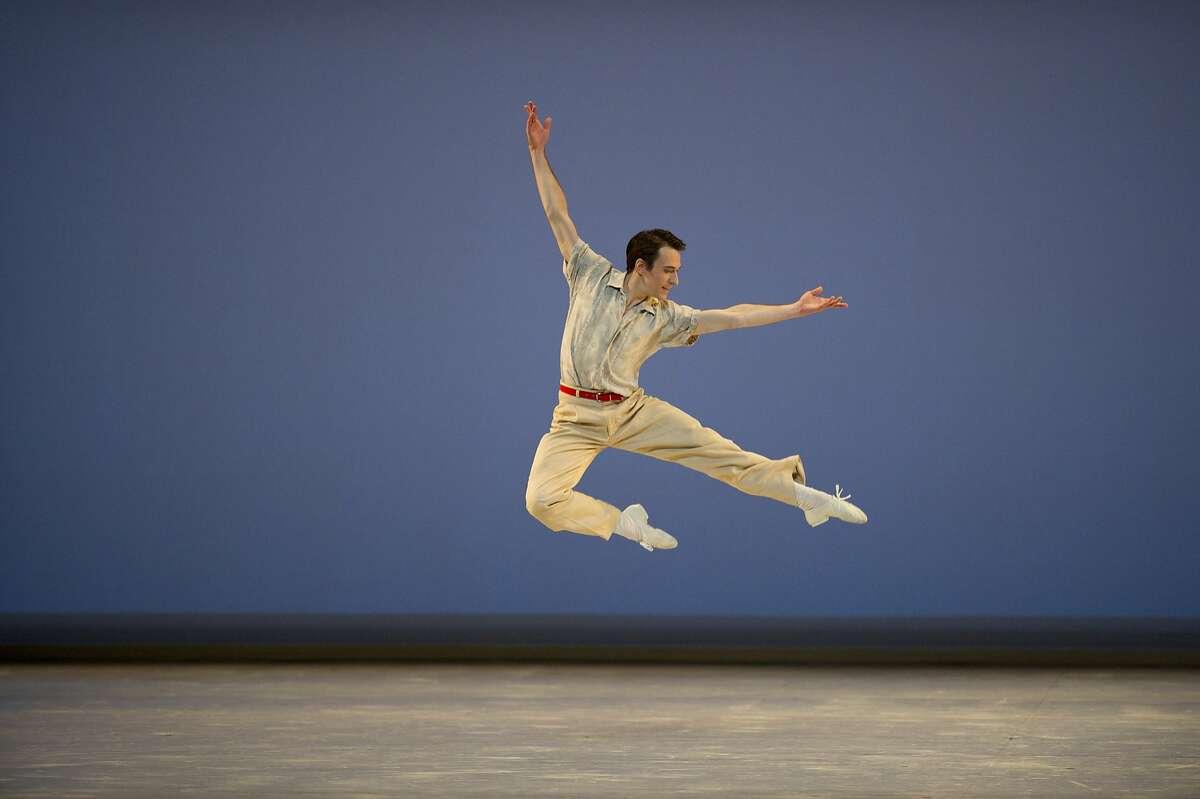 Caption: San Francisco Ballet soloist James Sofranko in Paul Taylor's
