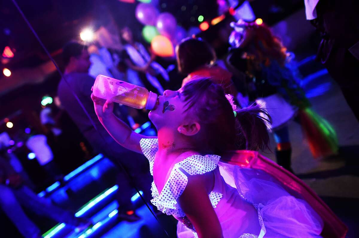 Kids in Halloween costumes party the day away at an electronic dance music event organized by CirKiz at a night club in New York on Oct. 26. According to the CirKiz website, the parties are meant to recreate the EDM experience for tiny future enthusiasts in a kid-friendly environment.