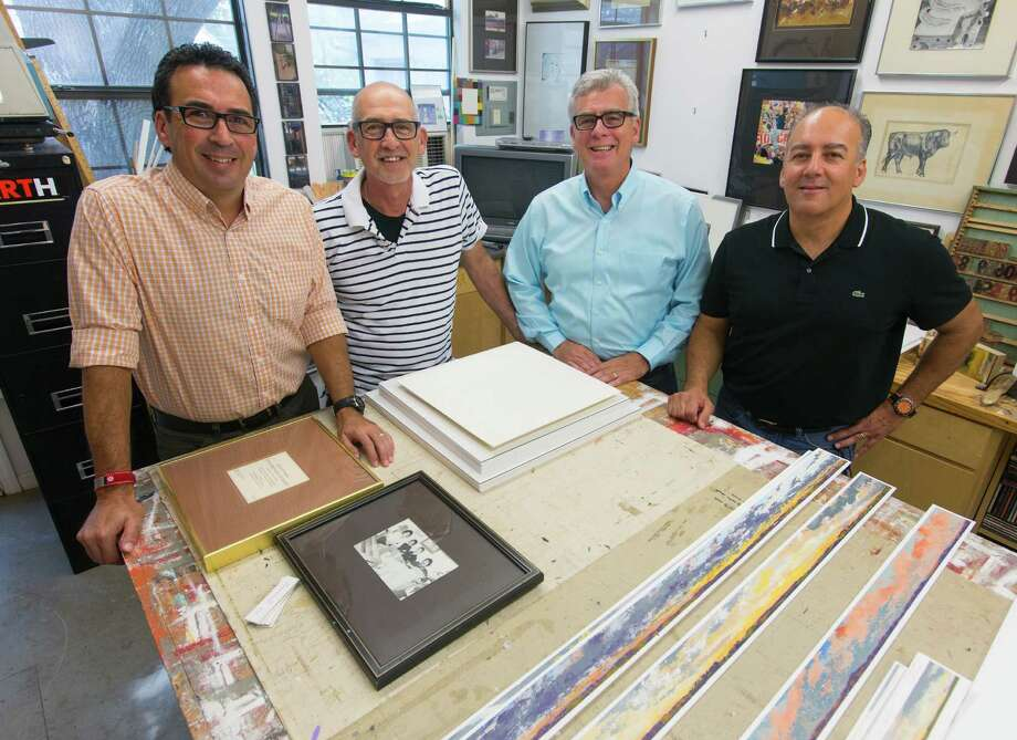 Brothers (from left) Rene, Jorge, Mario, and Rolando Garza have been creating art since childhood. Three of them will brothers will be displaying their artwork at the upcoming Uptown Art Stroll in the Olmos Park Terrace neighborhood. Photo: William Luther / William Luther / San Antonio Express-News / © 2014 San Antonio Express-News