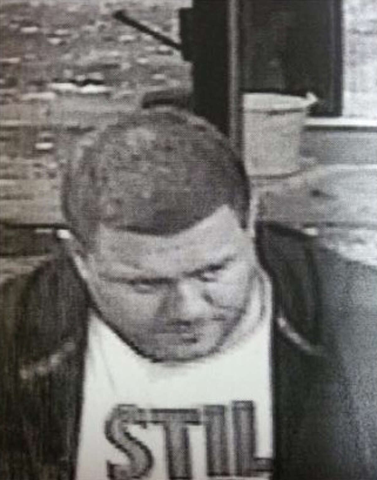 Guilderland Police are looking for this man captured on surveillance tape in connection with a series of burglaries that occured on Western Avenue in Guilderland on Oct. 16, 2014. Police said the man is a