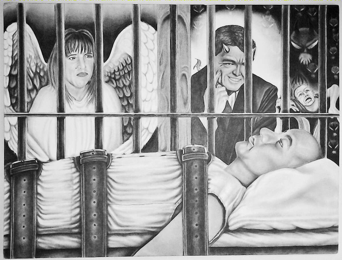 Drawing created by Miguel Angel Paredes, who is set to be executed October 28, 2014, for a gang-sanctioned triple slaying in San Antonio. Paredes said during a death row interview with the Express-News that he has turned to artwork over the past 13 years while waiting for his sentence to be carried out.