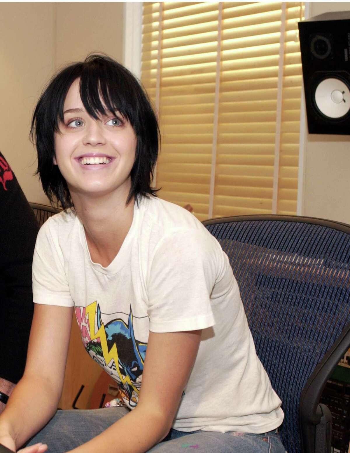 Katy Perry in 2002, when she was still sort of known as Katy Hudson. (Birth name: Katheryn Elizabeth Hudson).