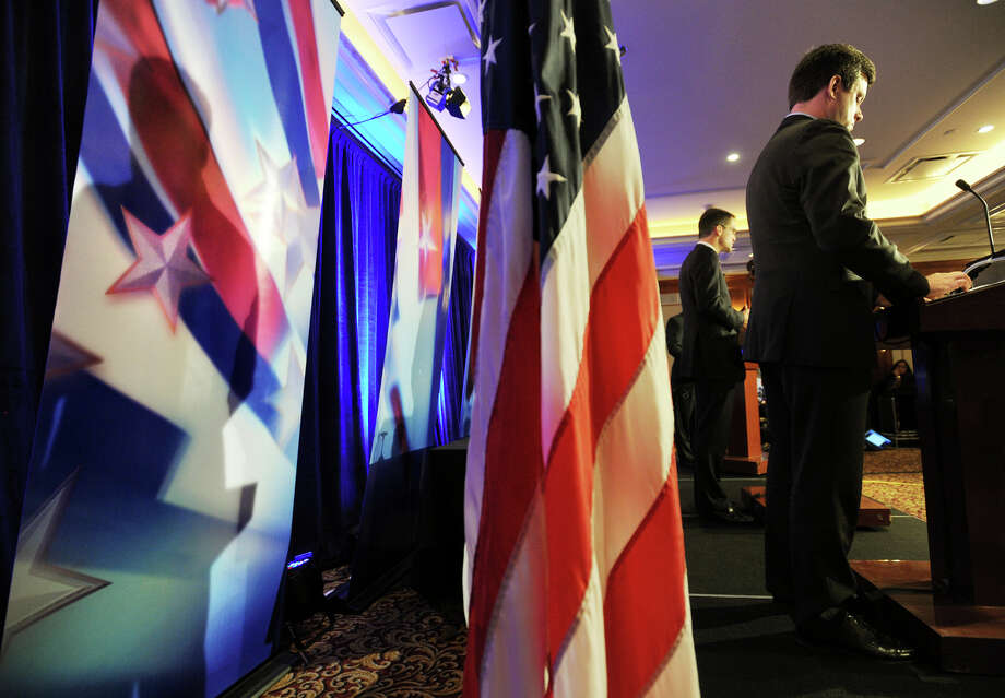 Democratic incumbent Jim Himes, left, and Republican challenger Dan Debicella square off in their final 4th Congressional District Debate at the Norwalk Inn & Conference Center on Tuesday, October 28, 2014. Photo: Brian A. Pounds / Connecticut Post