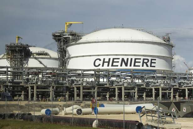 LNG storage tanks are seen at the Cheniere's Sabine Pass LNG facility Tuesday, Oct. 28, 2014, in Cameron, Louisiana.  (J. Patric Schneider / For the Chronicle )