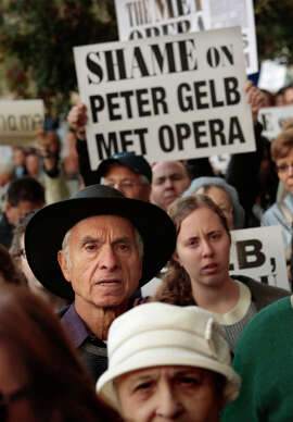Demonstrators protest opera at the Met.xxxxxxxxxxxxxxxxxxxxxxx