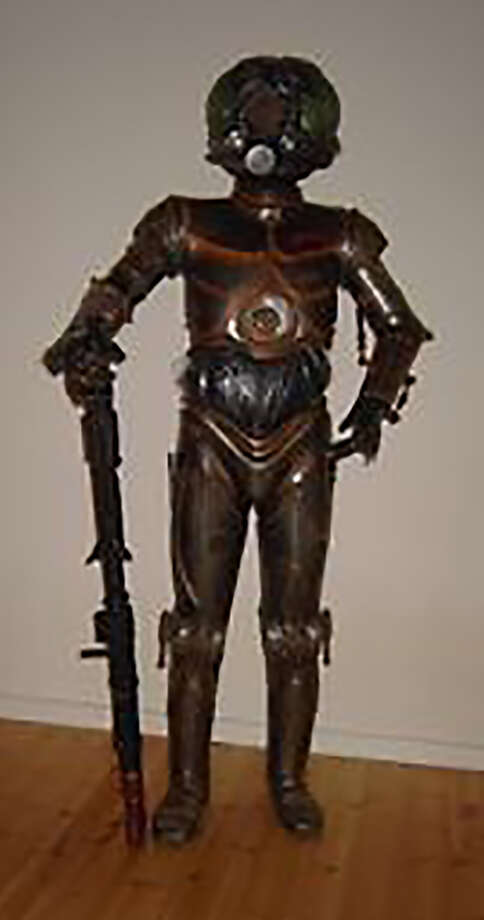 This Star Wars 4-LOM costume sold for $2,300. It comes with an inner suit and armor, according to the eBay listing. The armor is made of fiberglass and brass. Photo: Courtesy Of Terapeak