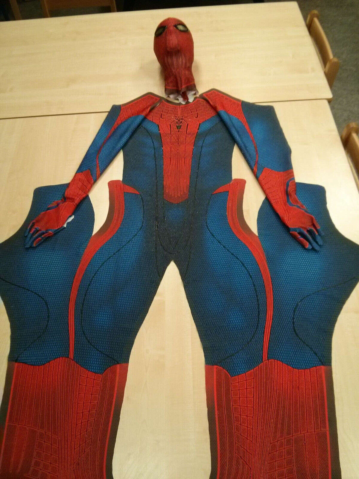 This Spider-Man costume sold for $2,500. It's a replica of the costume worn in