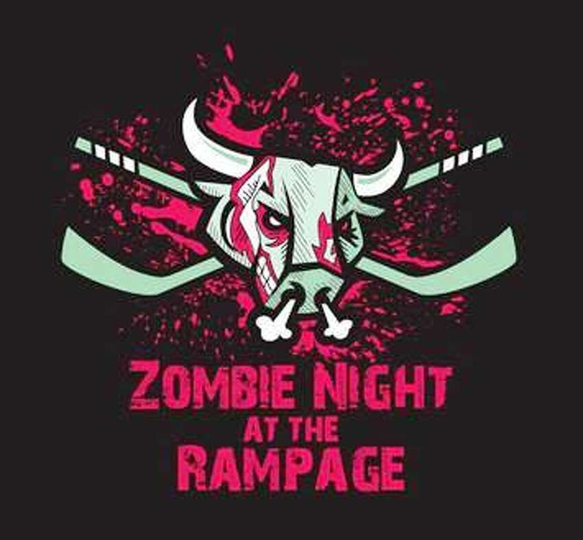 The San Antonio Rampage hockey team has done lots of crazy promotions, but none like this. Friday's American Hockey League game with the Rockford IceHogs will also be the Rampage's first Zombie Night. The first 2,500 fans will receive a zombie koozie; there will be a costume contest for grownups and kids. More Halloween activities are planned, and a team spokesman indicated in a news release that real zombies will be admitted free - but will be confined to the penalty box. Whew! That's a relief. Also, it's $1 drink night.  7:30 p.m. Friday, AT&T Center, 1 AT&T Center Parkway. $6-$50 Ticketmaster.com. The Rampage and IceHogs will play again at 7 p.m. Saturday. -- Robert Johnson