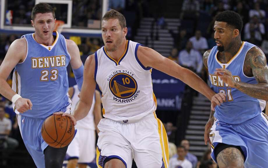 Warriors forward David Lee injured his hamstring in a preseason game against Denver on Oct. 24. Photo: George Nikitin / Associated Press / FR57659 AP