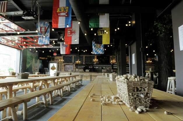 A view of the inside of the new Wolff's Biergarten at 165 Erie Blvd. in Schenectady, seen here on Tuesday, Oct. 28, 2014.  (Paul Buckowski / Times Union) Photo: Paul Buckowski / 00029217A