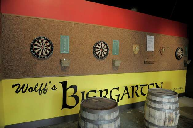 A view of the darts area inside of the new Wolff's Biergarten at 165 Erie Blvd. in Schenectady, seen here on Tuesday, Oct. 28, 2014.  (Paul Buckowski / Times Union) Photo: Paul Buckowski / 00029217A