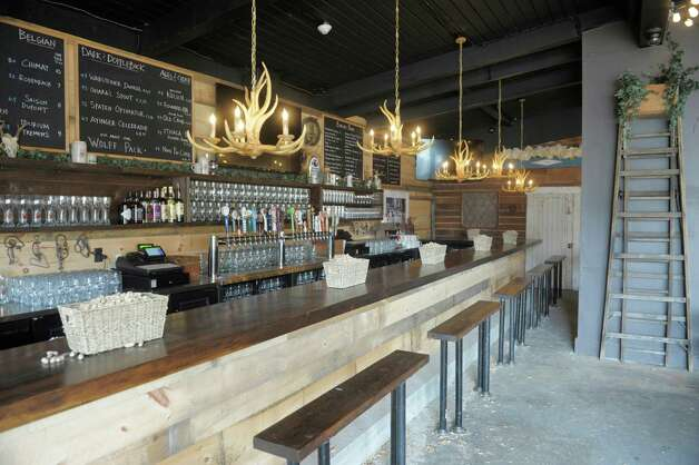 A view of the bar area inside of the new Wolff's Biergarten at 165 Erie Blvd. in Schenectady, seen here on Tuesday, Oct. 28, 2014.  (Paul Buckowski / Times Union) Photo: Paul Buckowski / 00029217A