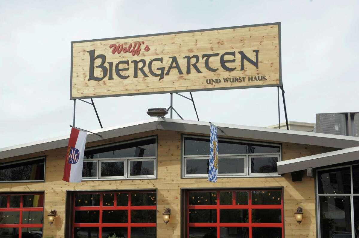 A view of Wolff's Biergarten at 165 Erie Blvd.  in Schenectady, seen when it opened in October 2014.