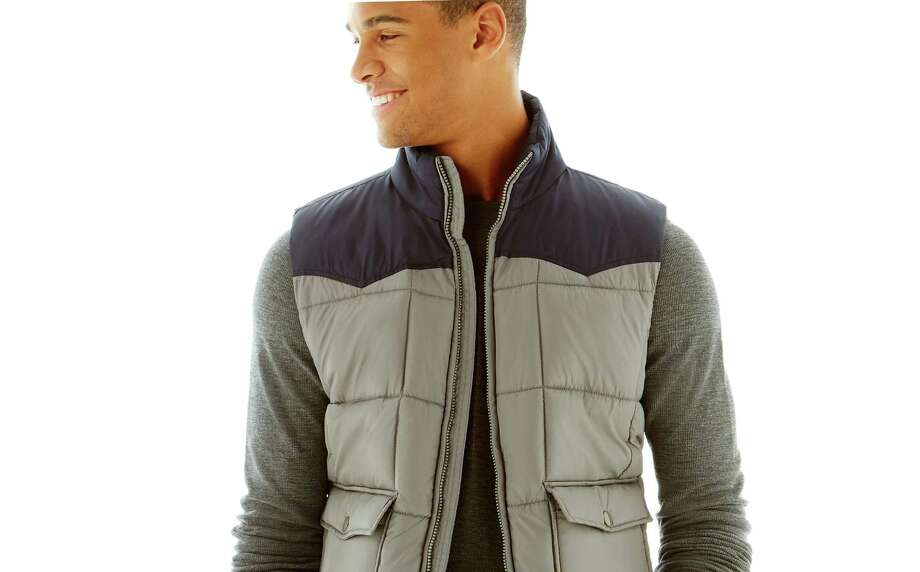 Victor Brockwell, J. C. Penney Co.'s men's trend specialist said fall is full of updated heritage looks such as this puffer vest that can be dressed up with a suit or worn casually.This quilted puffer vest gives your laidback wardrobe plenty of versatility, $40. Photo: JCPenney / patrick jerina