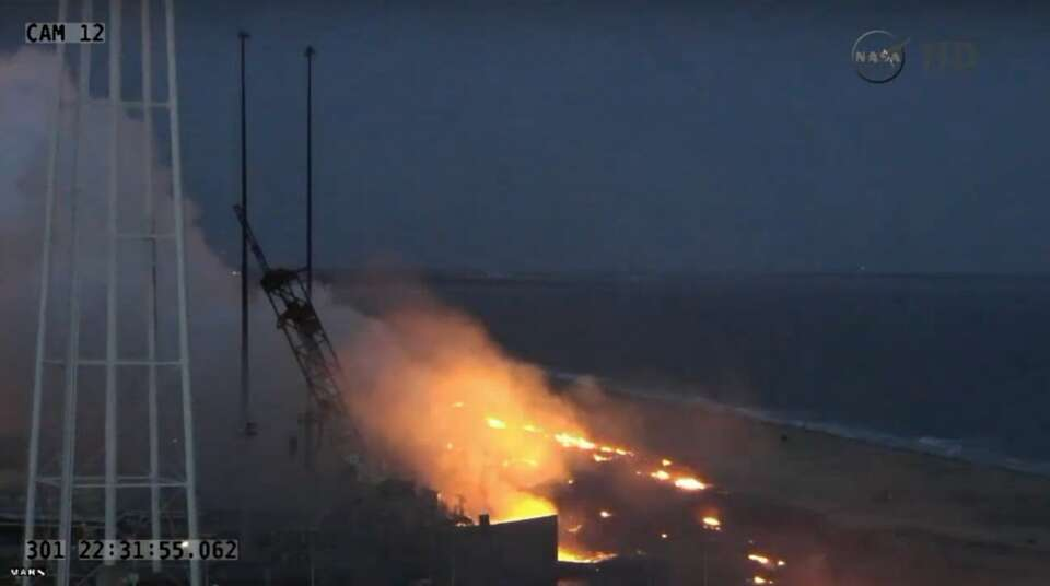 A NASA Antares rocket exploded on the launch pad in ...