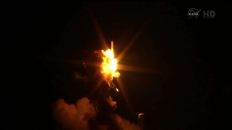A NASA Antares rocket exploded on the launch pad in Virginia, Tuesday, Oct. 28, 2014. (NASA.gov) Photo: NASA