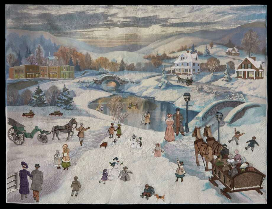 Quilt Festival 39 S Best Of Show Is An Elaborate Wintry Scene